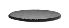 Round Stone Plate Isolated On ...