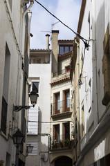 Fototapeta na wymiar The streets of the ancient city of Tossa