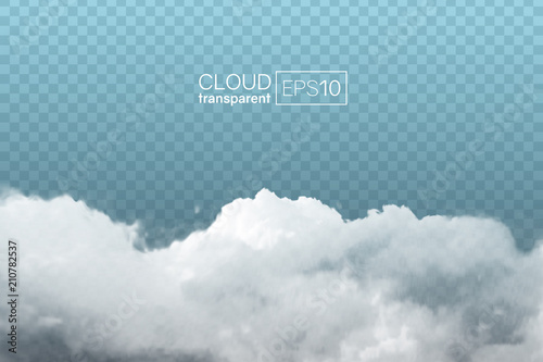 Fototapeta transparent realistic cloud obraz