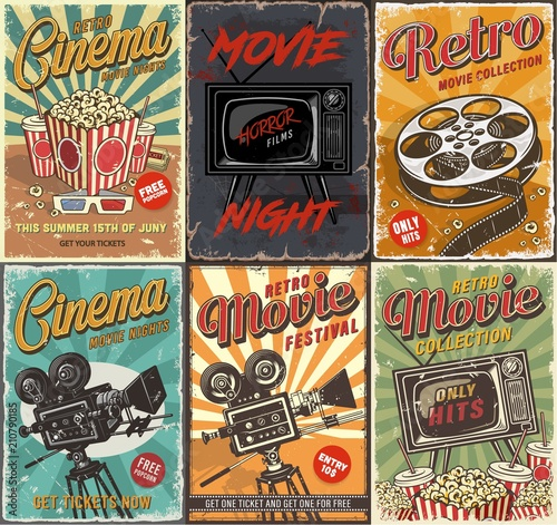 Fotomural Cinema set of posters