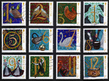 Twelve Days Of Christmas On Postage Stamps