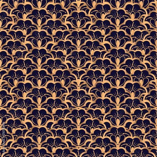 Luxury background vector. Floral royal pattern seamless. Art ...