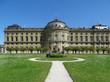 Die Südseite der Residenz zu Würzburg