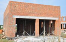Building New Brick Garage. Gar...
