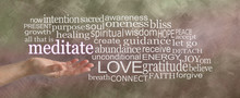 Meditation Word Tag Cloud - Fe...