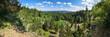 canvas print picture - Panorama Bergsee Ebertswiese / Thüringer Wald