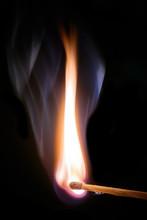 Lighted Match With Smoke