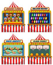 A Set Of Fun Fair Tents