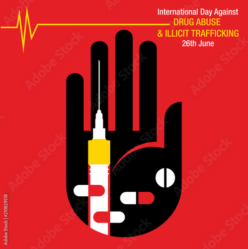 International Day against Drug Abuse and Illicit Trafficking background Wallpaper Mural