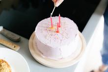 A Homemade Pink Birthday Cake ...