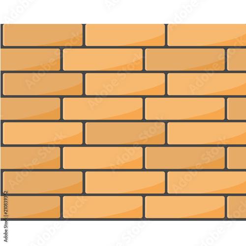 Brick wall seamless pattern - brickwork background Wallpaper Mural