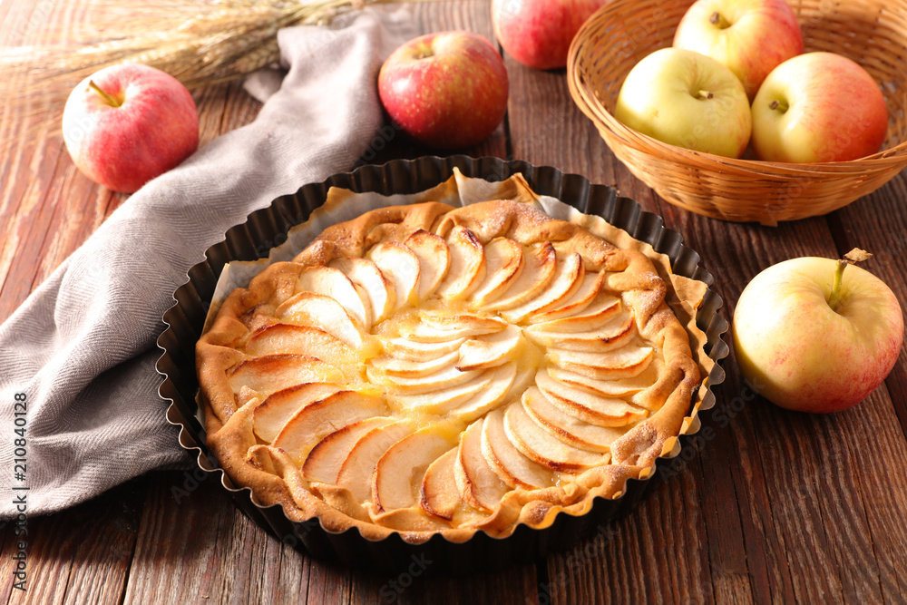 Photo  homemade apple pie