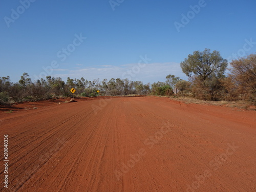 Printed kitchen splashbacks Australia Australian gravel road, northern territory