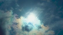 Sun Covered By White Clouds