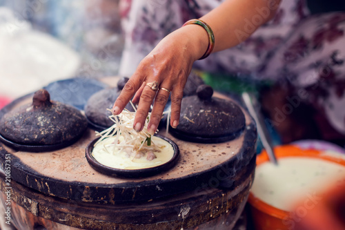 Vietnamese small rice pancake - Traditional food of Vietnam
