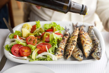 Grilled Sardines With Salad An...