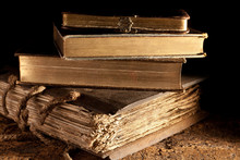 Antique Books Stacked