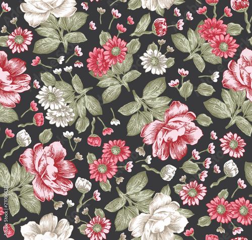piekne-roze-kwitnace-kwiaty-zielen-i-czerwien-klasyczny-styl