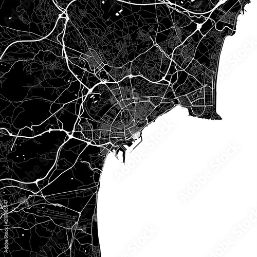Photo Area map of Alicante, Spain