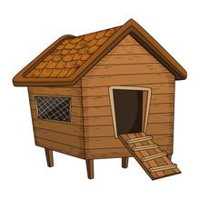 Cartoon Chicken Coop Design Is...