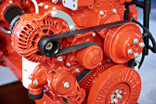 Red Diesel Engine For Truck