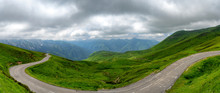 Panorama Of The Aubisque Pass In The French Pyrenees