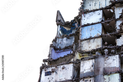 What is left of an old block of flats near Gorton in Manchester Wallpaper Mural