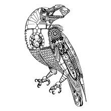 Steampunk Illustration. Raven ...