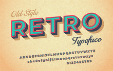 Colorful Italic Retro Font And...