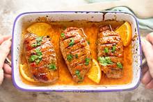Duck Breast In Orange Sauce Ma...