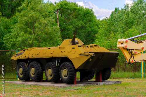 Soviet vehicle used for liquidation of the consequences of Chernobyl disaster in 1986