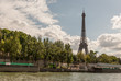 The Eiffel Tower, in Paris from the Seine river