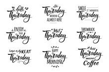 Hello Thursday Lettering