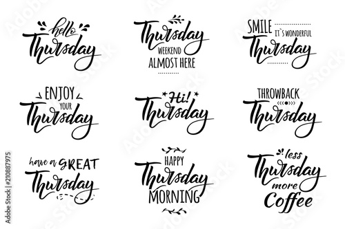 Fotografia, Obraz  hello thursday lettering