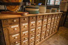 Old Herb And Spice Cabinet