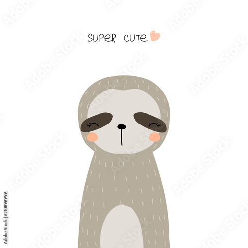 Cute little sloth Wallpaper Mural