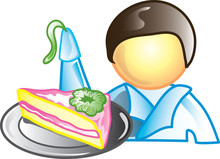 Illustration Of A Cake Decorat...
