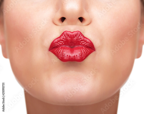 Beautiful red lips. Poster