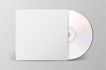 Vector Realistic 3d White Cd W...