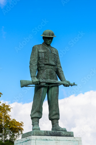 Photo  Vork Faldne monument in Copenhagen, the capital of Denmark