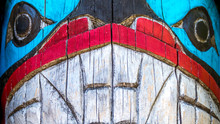 Close Up Totem Pole Face