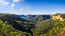 Govetts Leap Lookout Panorama,...