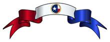 Texan Flag Icon Satin Ribbon
