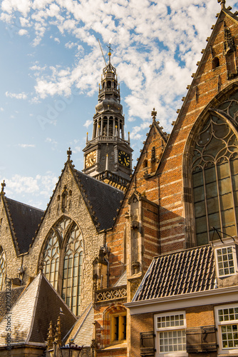 Fotobehang Athene Church in Amsterdam, the capital of the Kingdom of Netherlands