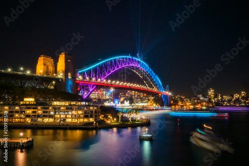 Staande foto Sydney Bridging the gap: from the past but into the future -Sydney Harbour Bridge, Australia