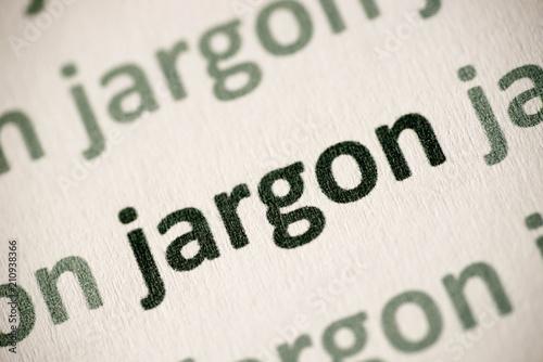 word jargon printed on paper macro Tapéta, Fotótapéta