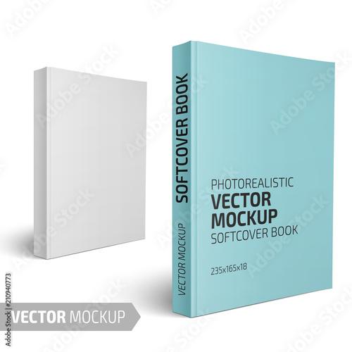 Fotografie, Obraz  Blank vertical softcover book template.