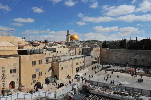 Fotobehang Midden Oosten The Western Wall and Temple Mount in Jerusalem