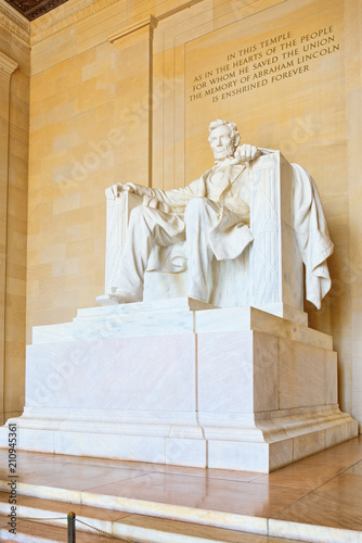 Plakat  Washington, USA, Monument for Abraham Lincoln.