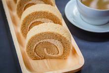 Coffee Roll Cake.